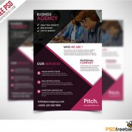 Clean and Professional Business Flyer Free PSD