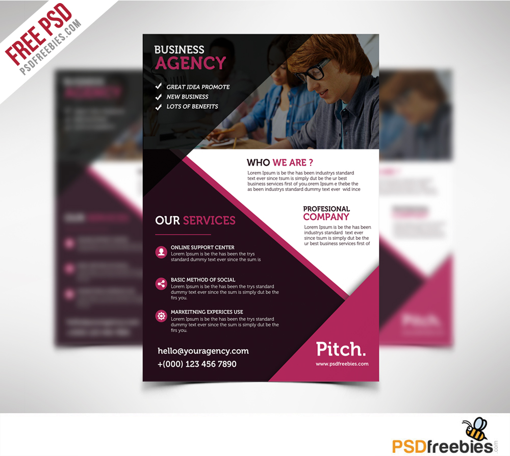 Clean and professional business flyer free psd psdfreebies clean and professional business flyer free psd accmission