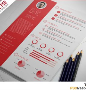 Clean and Professional Resume Free PSD Template