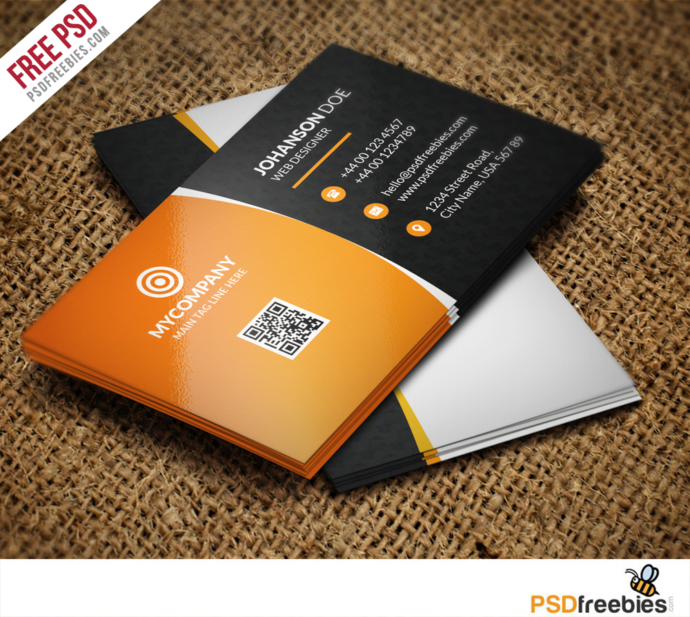 Free corporate business card psd vol 1 psdfreebiescom psdfreebiescom for Business cards psd templates