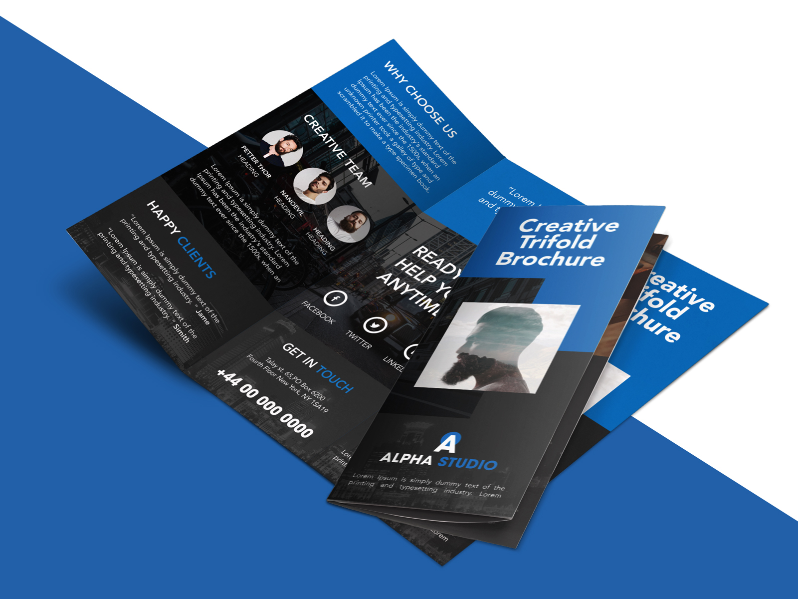 creative agency trifold brochure free psd template psdfreebies com