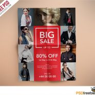 Fashion Retail Sales Flyers Free PSD Template
