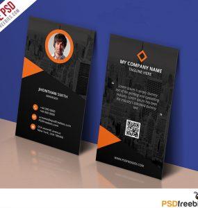 Modern Corporate Business Card Template Free PSD
