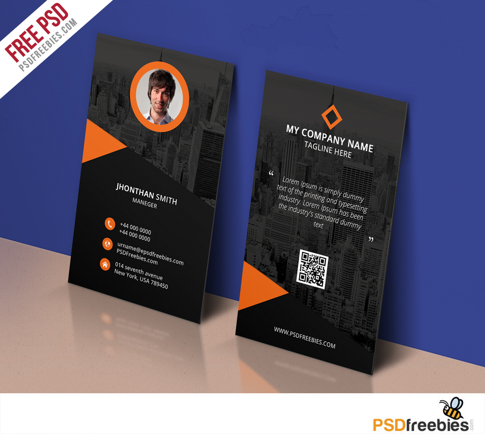 Modern corporate business card template free psd psdfreebies modern corporate business card template free psd cheaphphosting Gallery