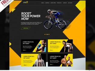 Sports Shop Website Multipurpose Free PSD Template