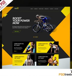 Sports Shop Website Multipurpose Free PSD Template