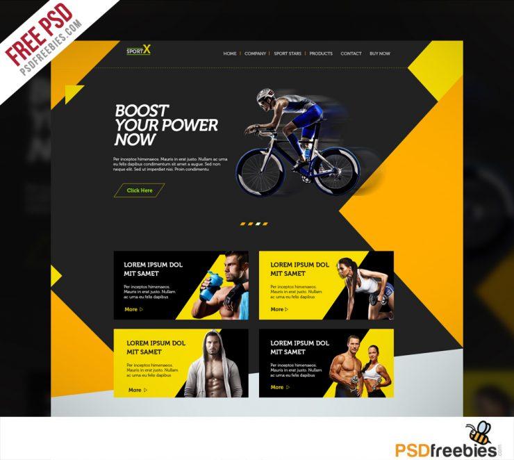 Sports Psd Template: Sports Shop Website Multipurpose Free PSD Template