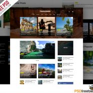 Travel Blog or Magazine Free PSD Template