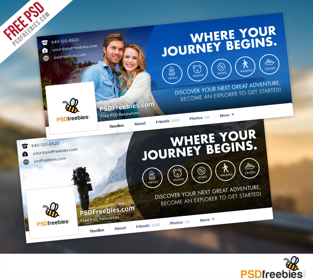 Travel facebook timeline covers free psd templates psdfreebies com