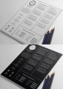 Creative and Professional Resume Free PSD Template