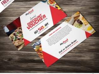 Discount Voucher Free PSD Template