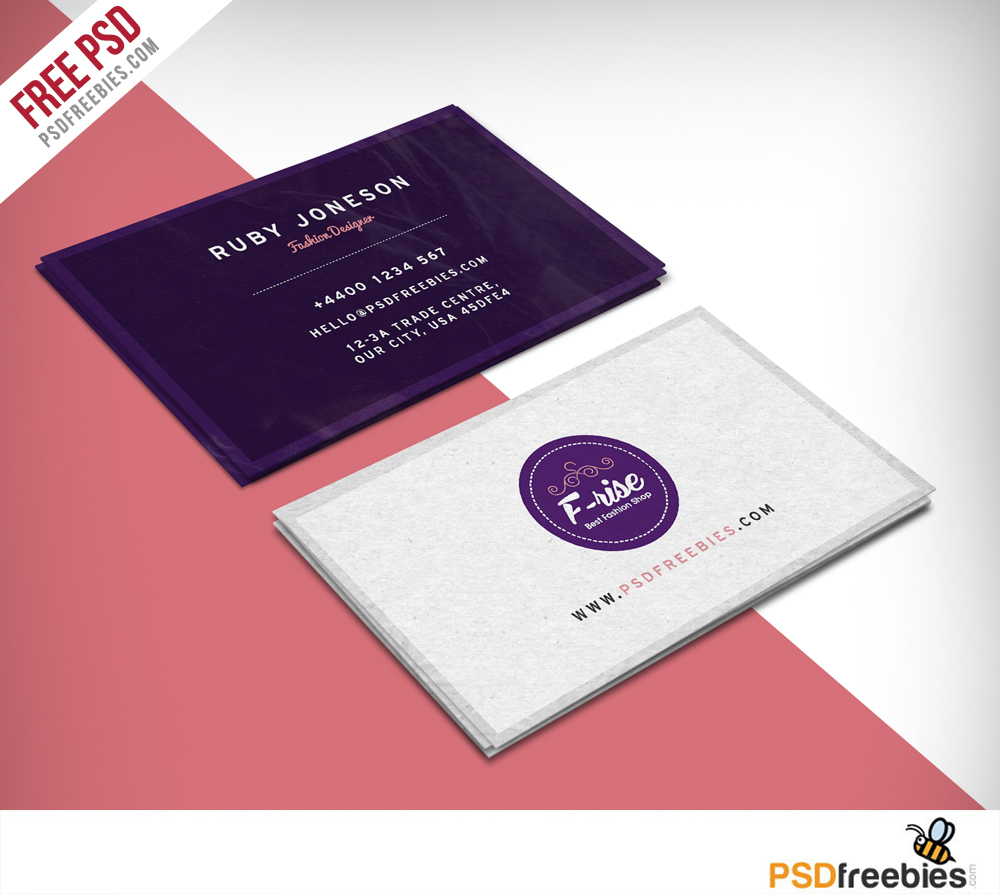 Creative Fashion Designer Business Card Business And Birthday Card