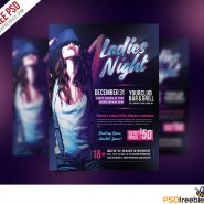 Ladies Night Flyer Free PSD Template
