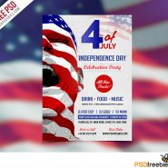 USA Independence Day Flyer Template Free PSD