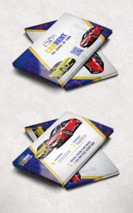 Car Dealer Business Card Template Free PSD
