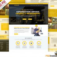 Construction Company Website Template Free PSD