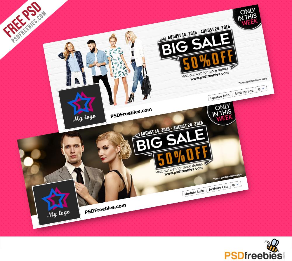 Fashion Sales Facebook Cover PSD Freebie