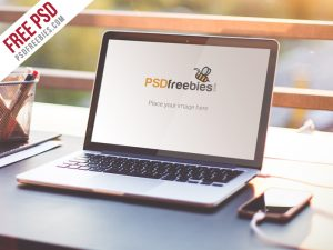 Macbook Air Mockup Free PSD Freebie