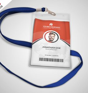 Multipurpose Office ID Card Free PSD Template