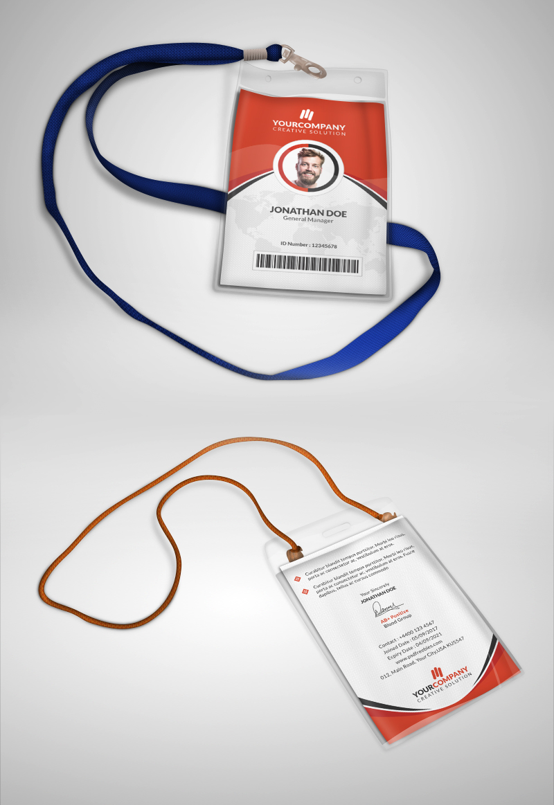 id badge template free - multipurpose office id card template psd