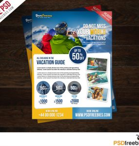Travel Tour and Vacation Flyer Free PSD