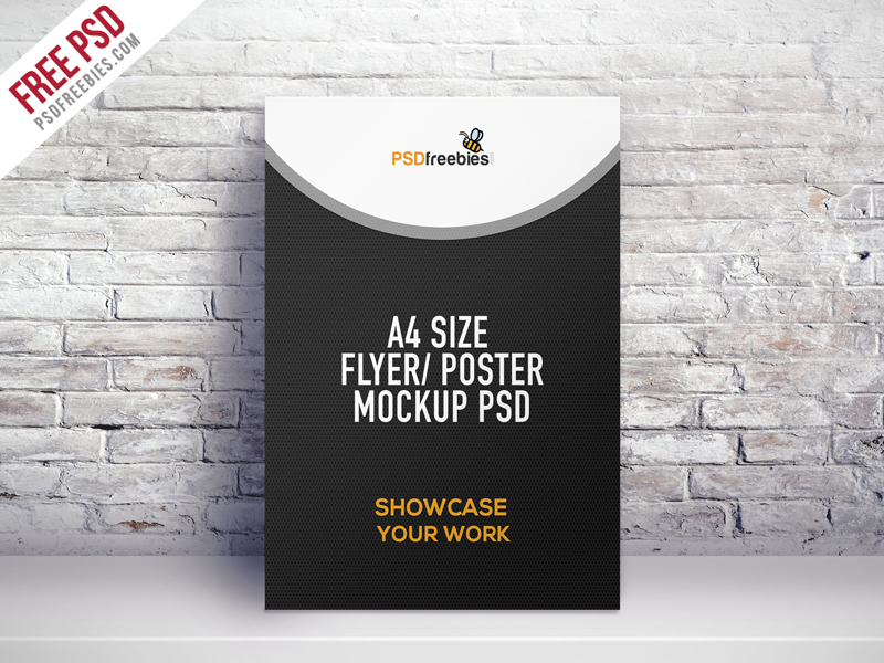 A4 Size Flyer Poster Mockup Psd Psdfreebies Com
