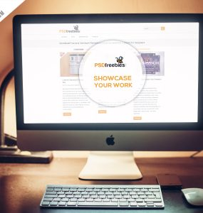 Apple iMac Desktop Mockup Free PSD