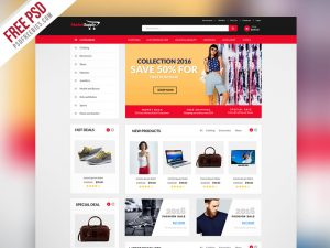 Creative MultiPurpose eCommerce Website Template PSD