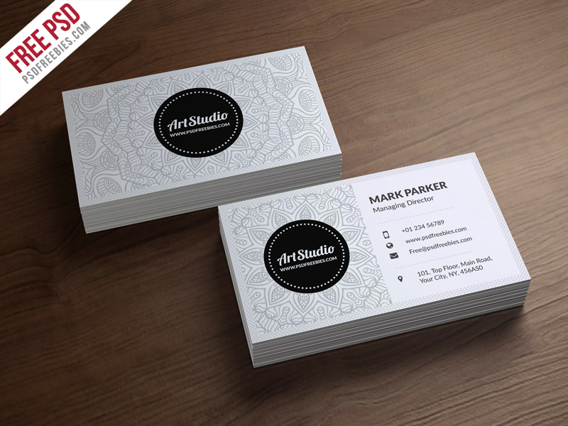 Creative White Business Card Free Psd Psdfreebies Com