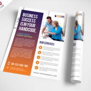 Modern Agency Flyer Free PSD Template