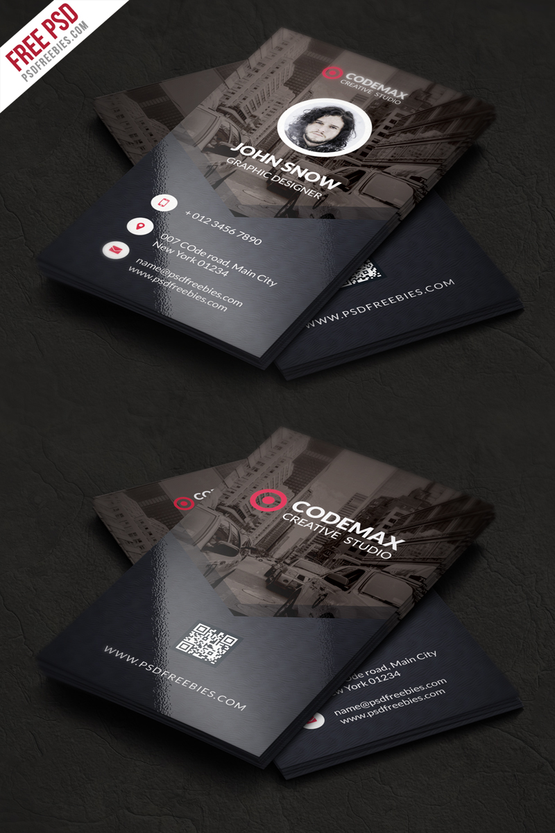 modern business card free psd template psdfreebiescom