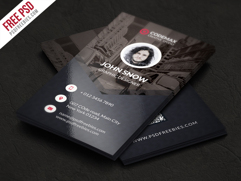 Modern business card free psd template psdfreebiescom for Business card photoshop template psd