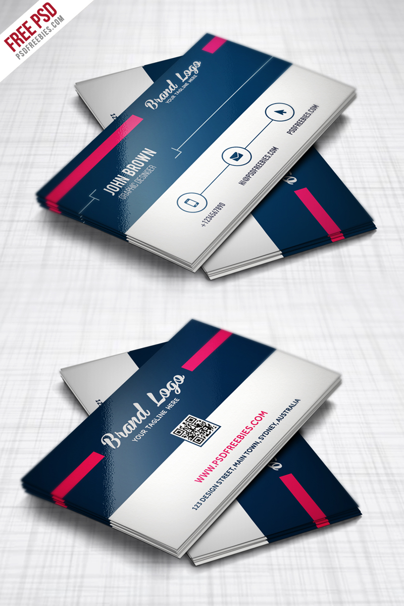 Modern Business card Design Template Free PSD ...