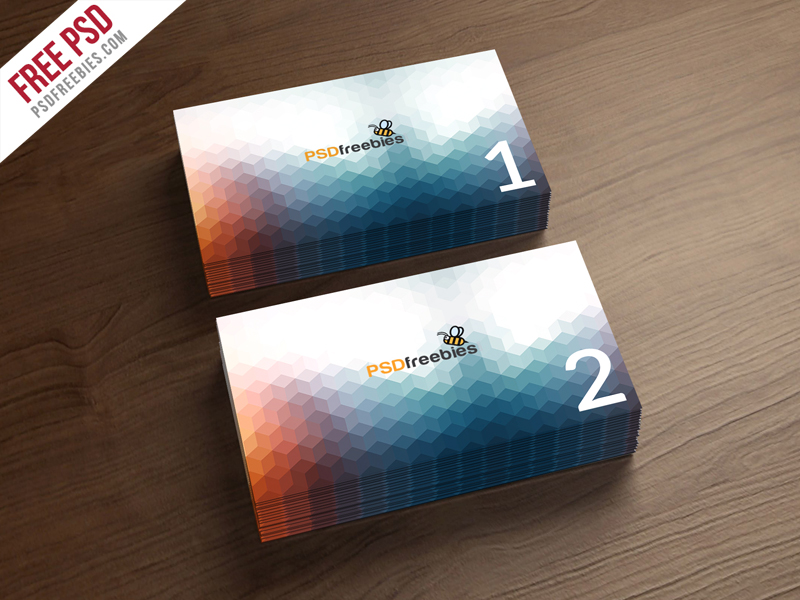 Business card mockup template free psd for Free business card templates psd