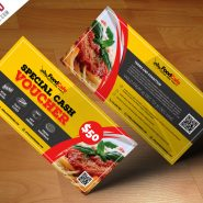 Food Cash Voucher Template Free PSD