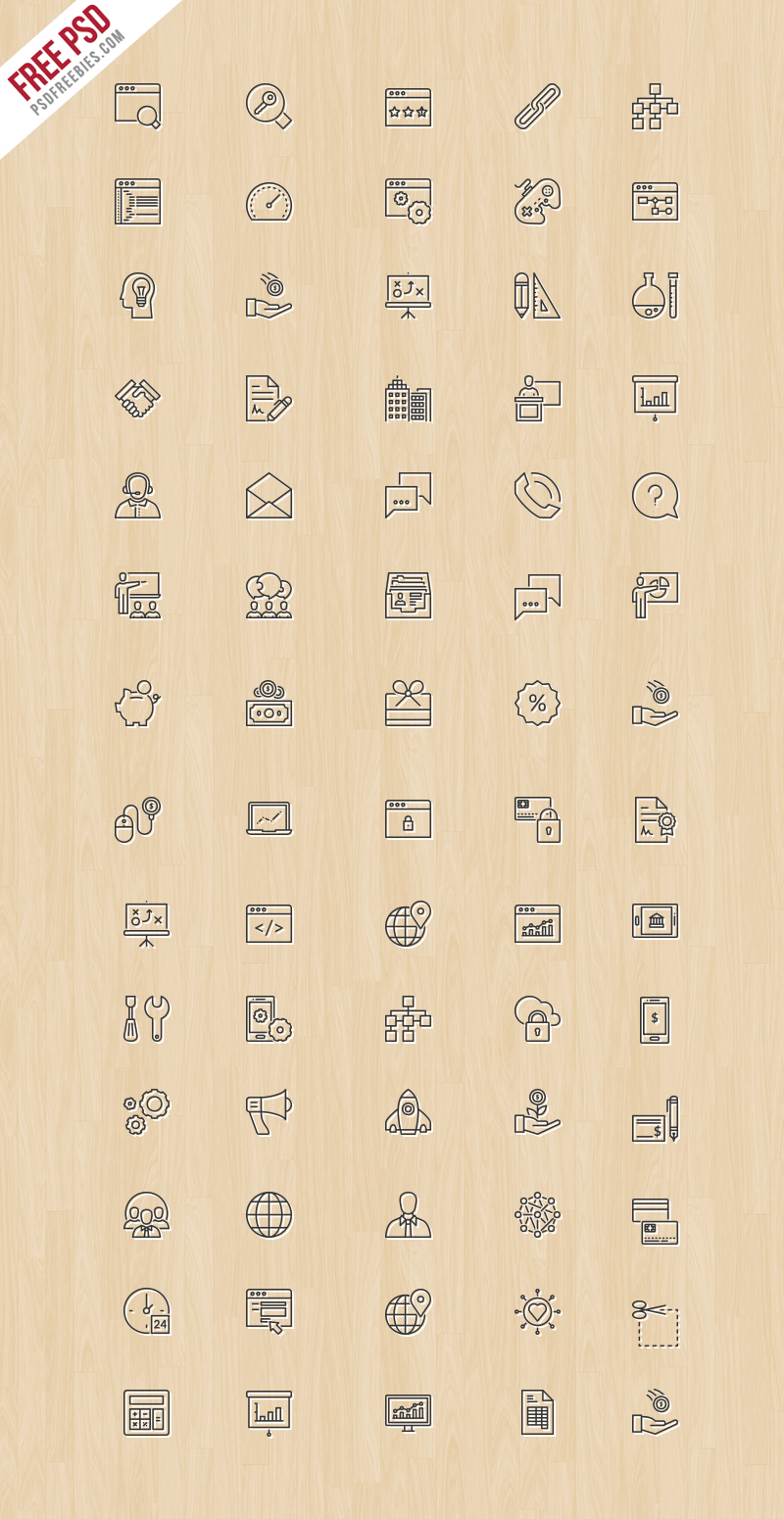 Online Business And Finance Icons Free PSD
