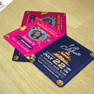 Birthday Invitation Card Template Free PSD