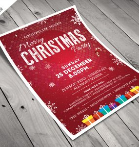 Christmas Party Flyer Template Free PSD