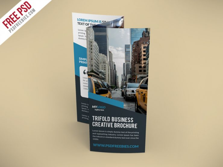 Creative TriFold Brochure Free PSD Template