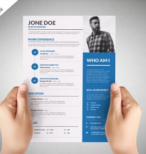 Graphic Designer Resume Template Free PSD
