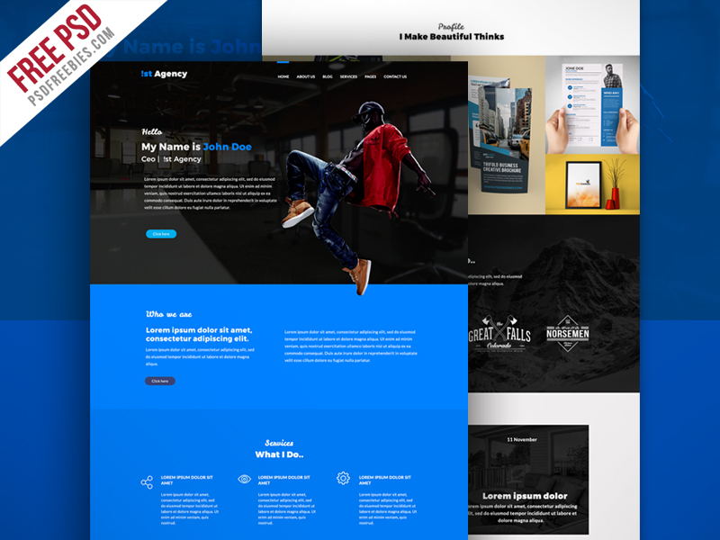 Personal Portfolio Website Theme Free PSD | PSDFreebies com