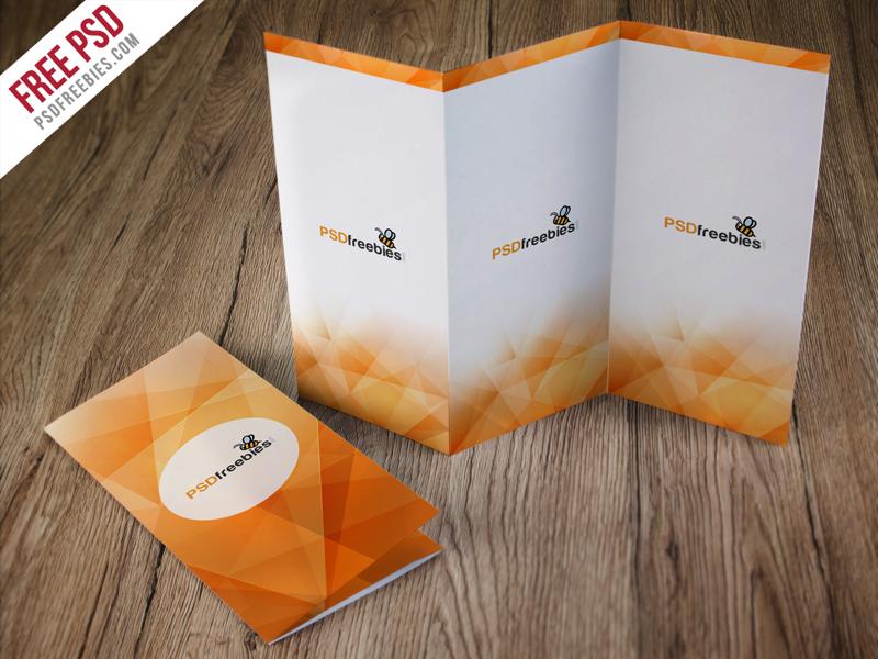tri fold brochure mockup free psd psdfreebies com