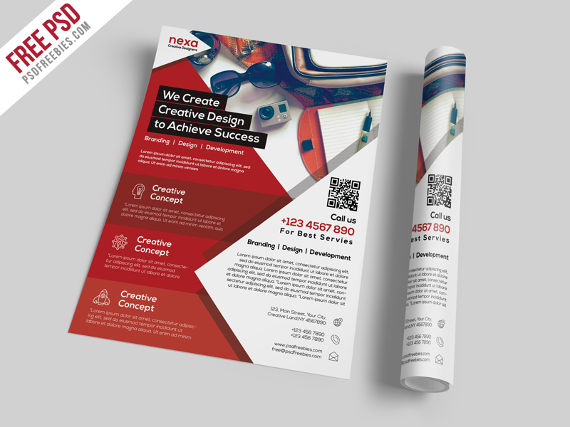 Business And Corporate Flyer Template Free Psd Psdfreebies