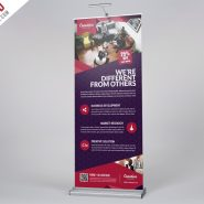 Multipurpose Corporate Roll-Up Banner Free PSD