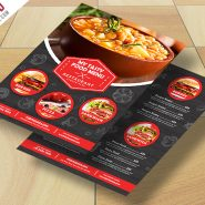 Restaurant Food Menu Flyer Free PSD