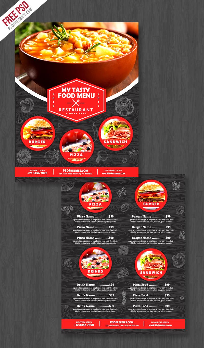 Restaurant Food Menu Flyer Free PSD | PSDFreebies com