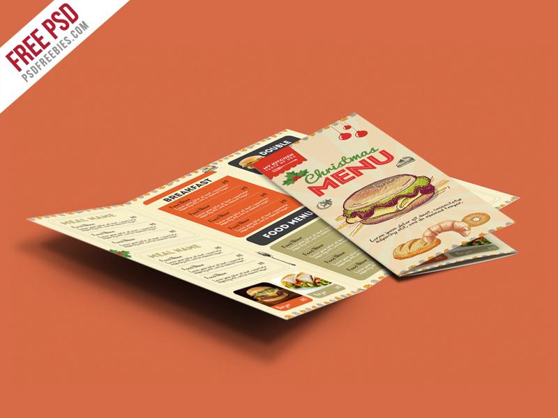 Retro Restaurant Food Menu Brochure Free PSD