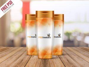 Shampoo Bottle Mockup Free PSD