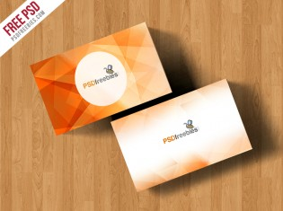 Simple Business Card Mockup Free PSD