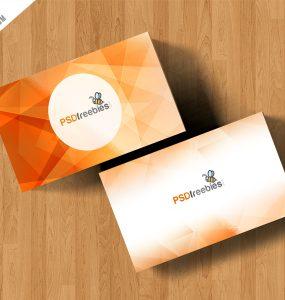 Simple Business Card Mockup Free PSD